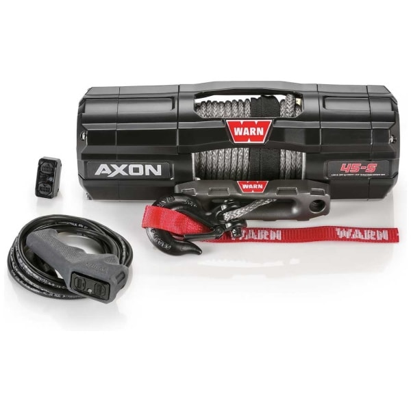WARN 101140 AXON 45-S Powersports 4500 LB Winch With Spydura Synthetic Rope
