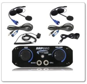 Rugged Radios RRP660 2 Place Intercom System with Helmet Kits 660-2P-HK