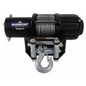Viper Midnight 4500 lb ATV UTV Winch Kit with 50 feet Steel Cable