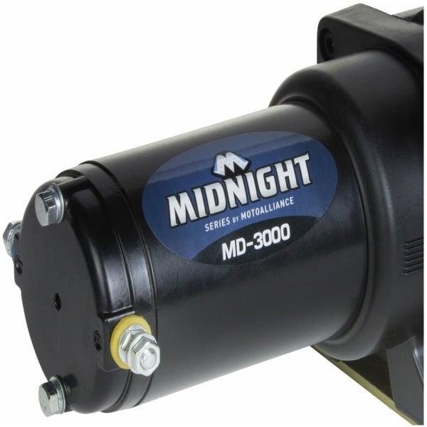 Viper Midnight 3000 lb ATV UTV Winch Kit with 50 feet BLACK Synthetic Rope