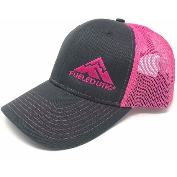 Fueled UTV Snapback Trucker Cap - Grey Steel/Neon Pink