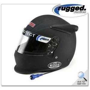 Rugged Radios Pyrotect Midair Helmet - Flat Black (MIDAIR-OFFROAD)