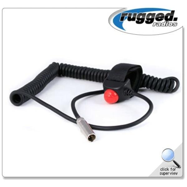 HD Coil Cord Velcro PTT for Car Harnesses, 502 & 510 Intercoms - PTT-VM2