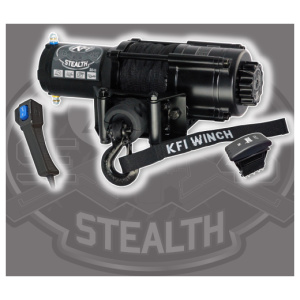 KFI 4,500LB Wide Spool Stealth Series Winch (SE45w-R2) / Synthetic Cable