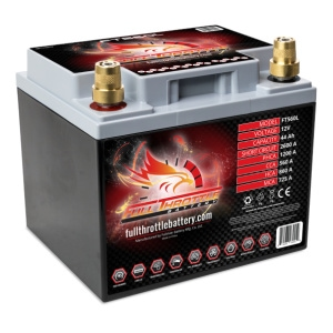 Full Throttle (Fullriver) FT560L High Capacity Dual Purpose AGM Battery (Left Positive)