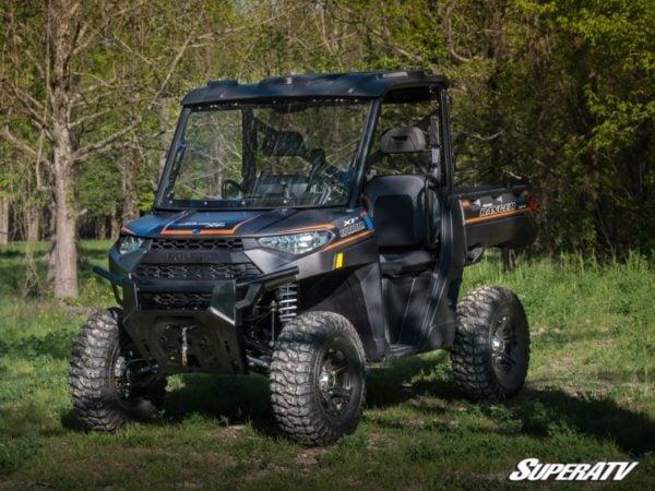 SuperATV Polaris Ranger 1000 Scratch Resistant Front Flip Windshield