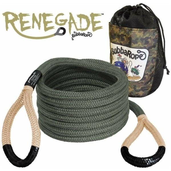 "3/4"" x 20' Renegade Rope (Military Camo-Green Body w/ Tan Eyes)"