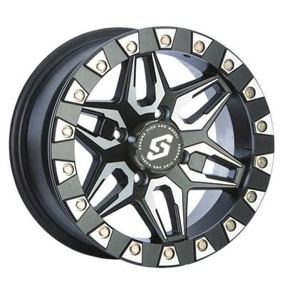 4/156 Sedona Split 6 Beadlock Wheel 14x7 4.0 + 3.0 Black
