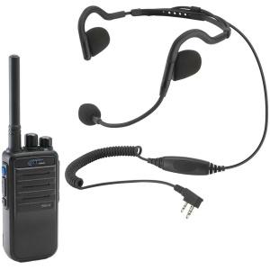 RDH Digital Handheld Radio and H10 Lightweight Headset Bundle