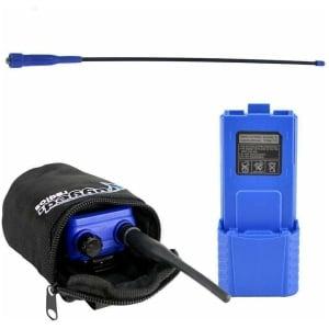 V3 / RH5R Long Range Upgrade Kit - XL Battery, Go Further Antenna & Radio Bag